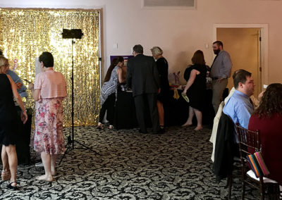 Warrington Country Club (Wedgewood Ballroom Set-Up & Gold Backdrop)